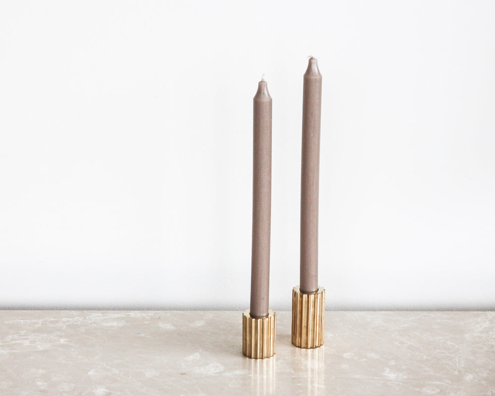 Load image into Gallery viewer, BROSTE TAPER CANDLE | LINEN