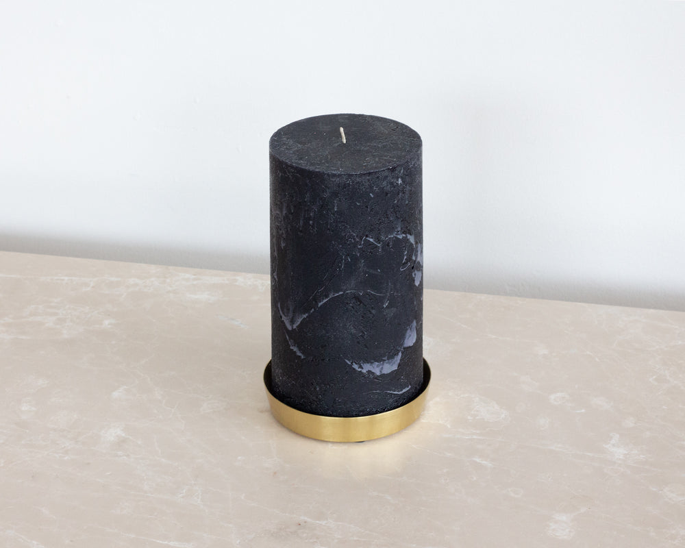 Load image into Gallery viewer, BROSTE | MINA BRASS CANDLE PLATE