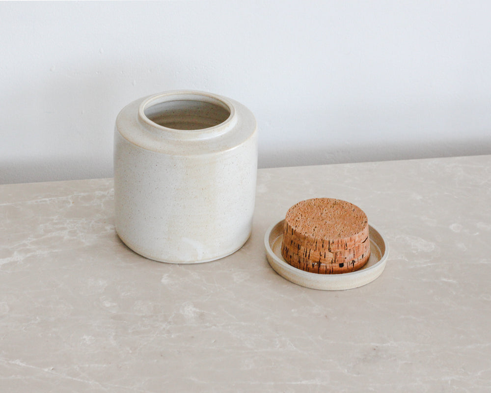 Load image into Gallery viewer, HANDSPUN CANISTER | PARCHMENT