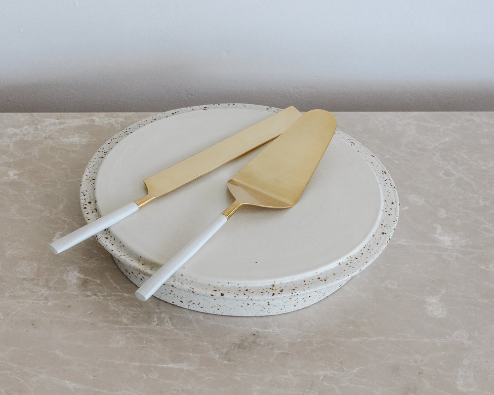 Load image into Gallery viewer, BIANCO CAKE & KNIFE SET
