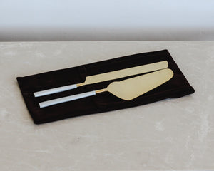 BIANCO CAKE & KNIFE SET