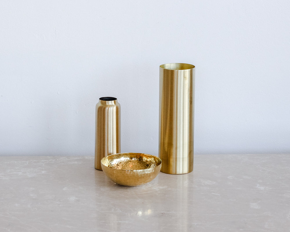 Load image into Gallery viewer, BRASS BOTTLE VASE
