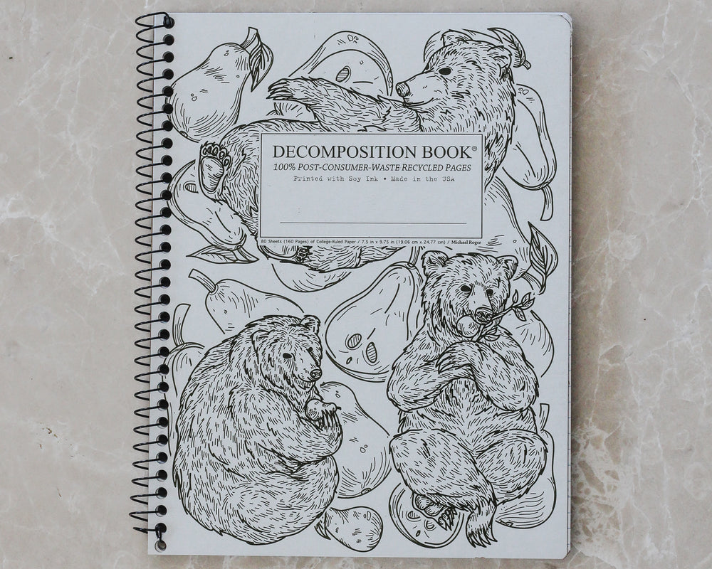 DECOMPOSITION SPIRAL NOTEBOOK | PEAR BEARS