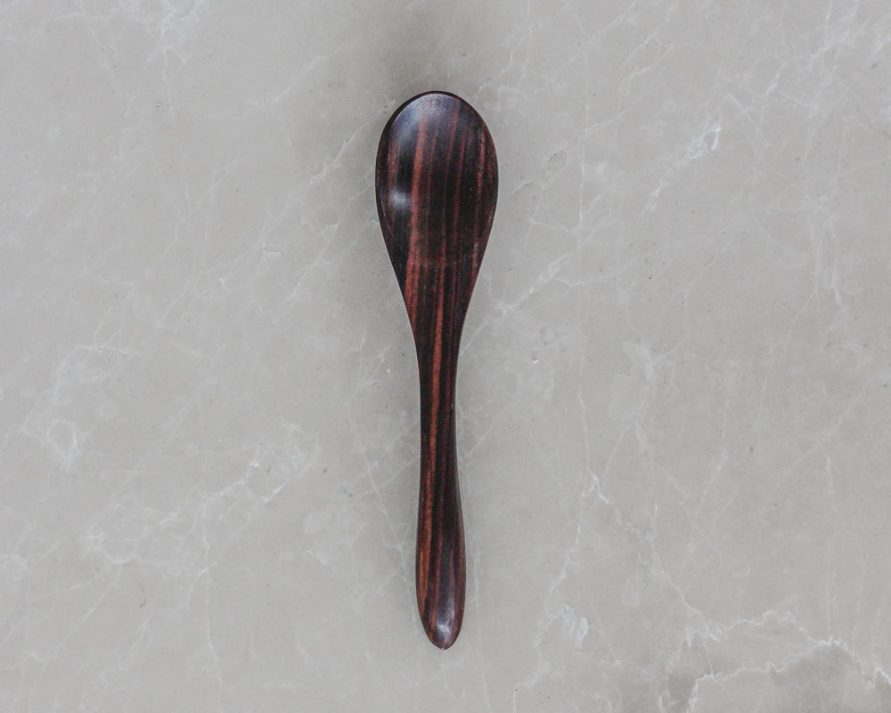 Load image into Gallery viewer, STAINED TEAK SPOON | DESSERT