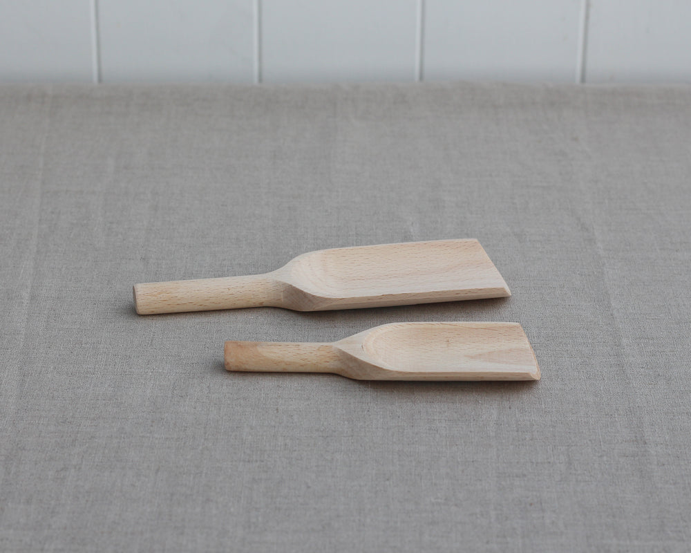 Load image into Gallery viewer, BEECH WOOD SCOOP | SET OF TWO