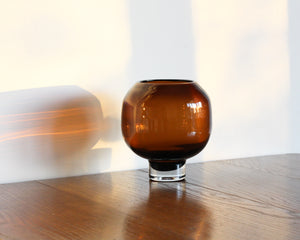 GLASS COFFEE POD VASE