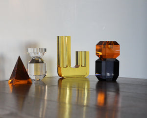 HUBSCH CRYSTAL VASE | LIGHT AMBER