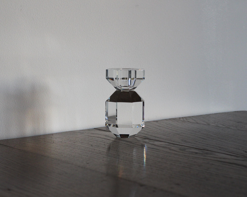 HUBSCH CRYSTAL CANDLE HOLDER | CLEAR