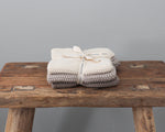 BIANCA LORENNE WASHERS | KNITTED TAUPE | SET OF 3