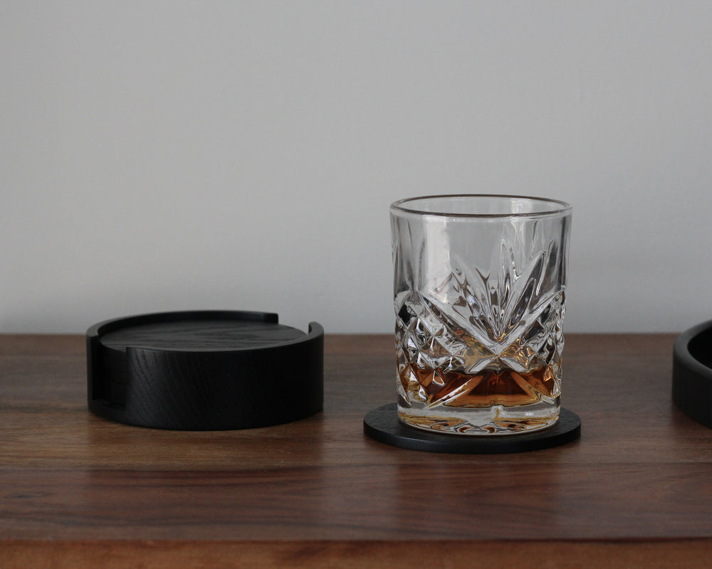 Load image into Gallery viewer, BLACK OAK COASTERS | 6 PIECE SET
