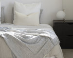 CHAMBRAY STRIPE COTTON BEDSPREAD
