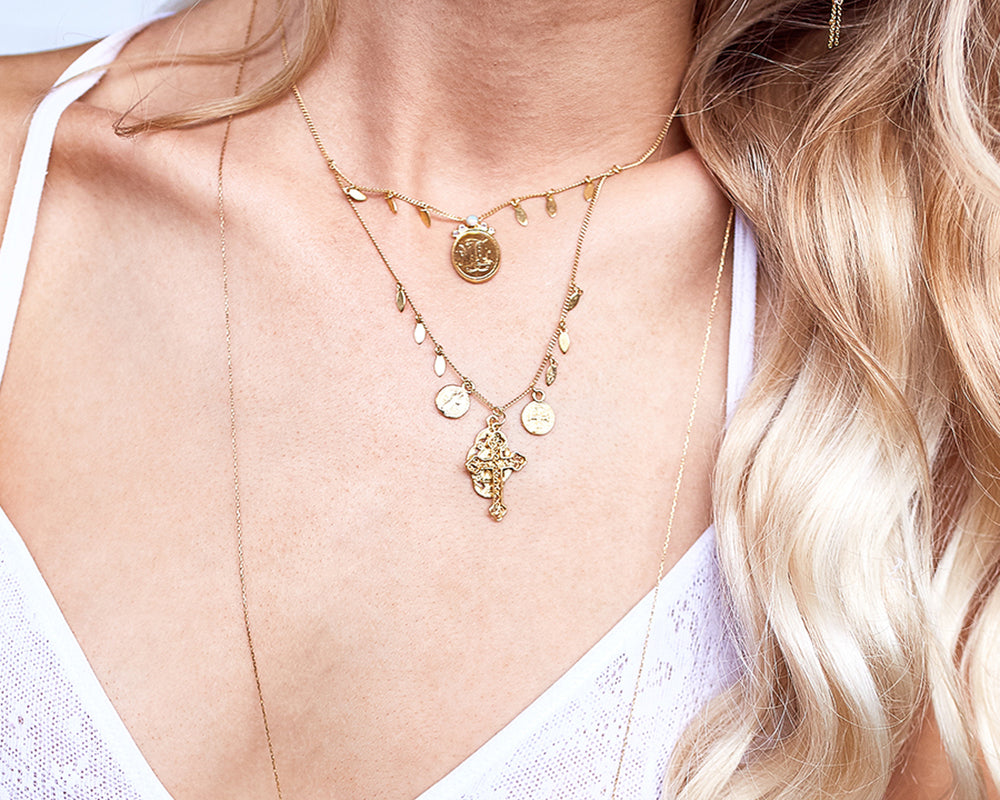 Load image into Gallery viewer, MONSIEUR BLONDE | CROSS MY HEART NECKLACE