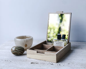 NATURAL OAK JEWELLERY BOX