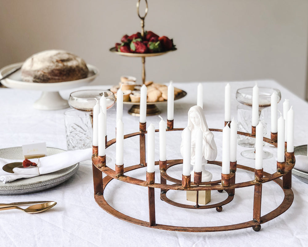 RUSTIC PRAYER CANDELABRAS