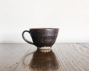BROWN VOLCANIC TEACUPS