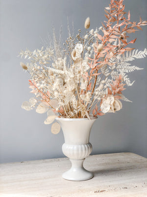 DRIED FLORAL IN VINTAGE URN
