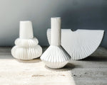 PLEATED BUD VASE | WHITE