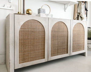 CANE ARCH SIDEBOARD