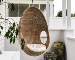 Load image into Gallery viewer, RATTAN HANGING POD CHAIR