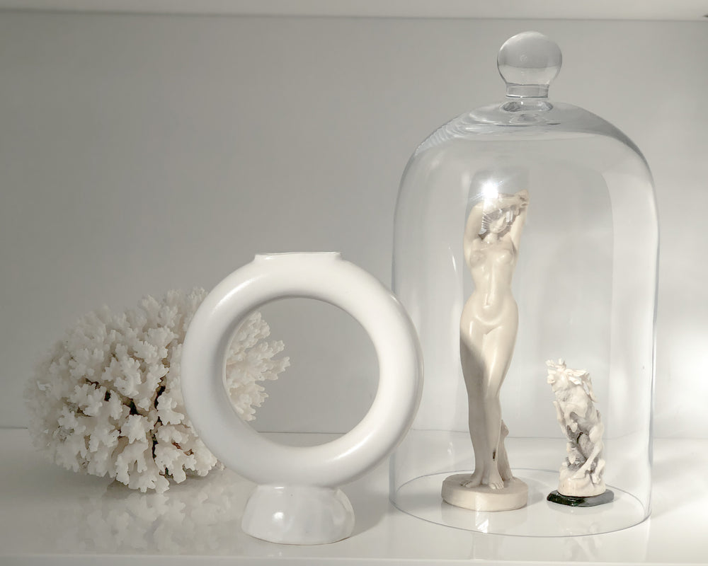 Load image into Gallery viewer, RING VASE | SATIN WHITE