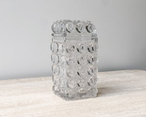 VINTAGE 1960's PRESSED GLASS CANISTER