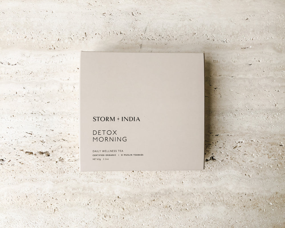 STORM + INDIA | TEABAGS | MORNING DETOX