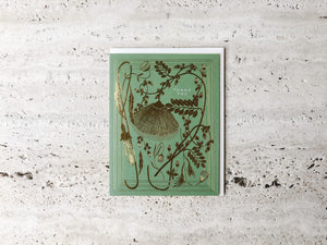GOLD FOIL CARD | THANK YOU | SAGE