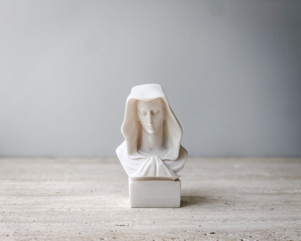 VIRGIN MARY BUST IN A CAPE
