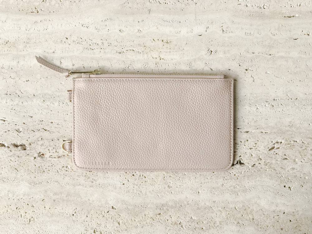 HOLSTERE PEBBLED LEATHER POUCH | MANHATTAN CREAM
