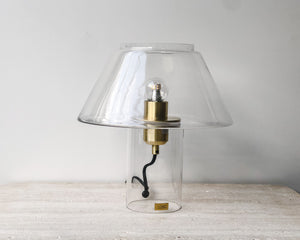 HUBSCH GLASS SKELETON LAMP