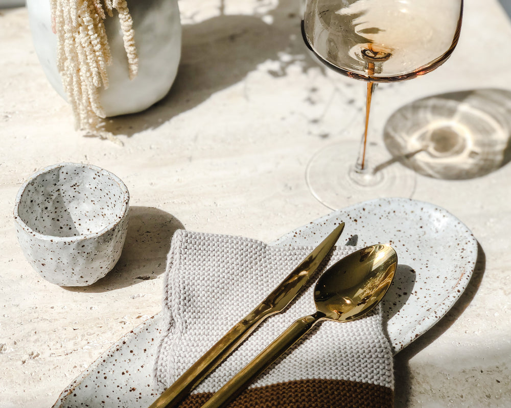 BROSTE | GOLD CUTLERY SET