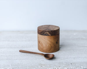 Load image into Gallery viewer, TEAK CANISTER