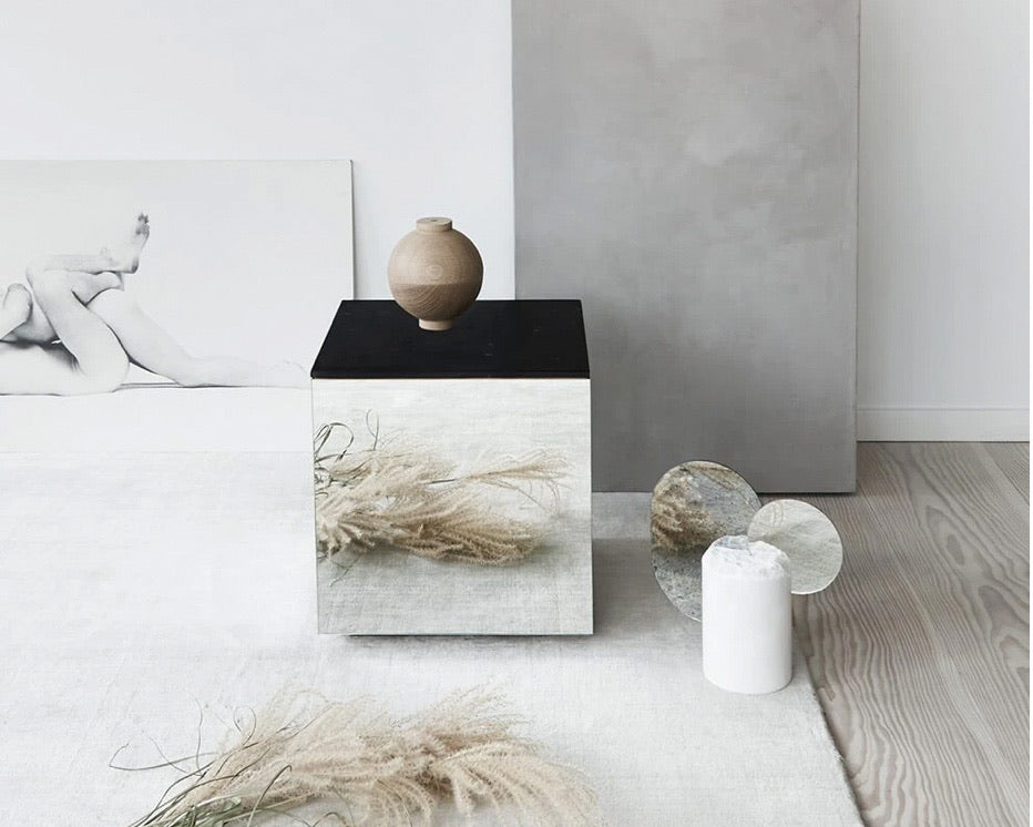 KRISTINA DAM | MARBLE MIRROR TABLE | MOCCA SMALL
