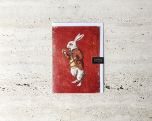 ALICE IN WONDERLAND CARD | THE WHITE RABBIT