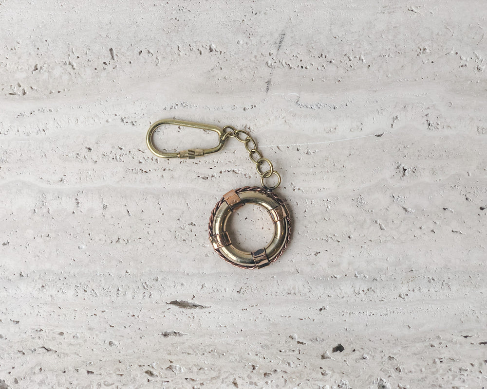 BRASS KEY CHAIN | LIFE BUOY