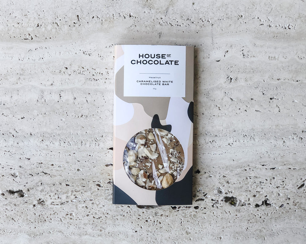 Load image into Gallery viewer, HOUSE OF CHOCOLATE | CARAMALISED WHITE CHOCOLATE BAR