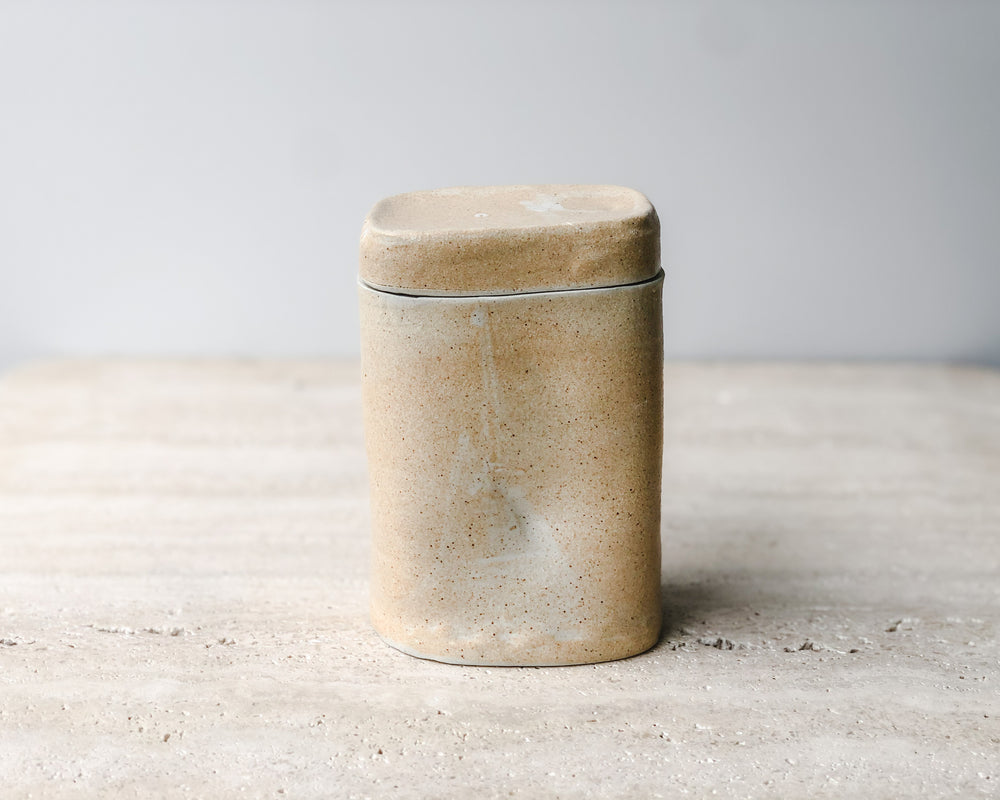 Load image into Gallery viewer, CERAMIC CANNISTER | PARCHMENT