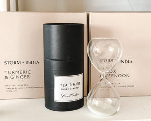 Load image into Gallery viewer, STORM & INDIA | GLASS TEA TIMER