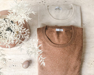 Load image into Gallery viewer, LAING CASHMERE CREW | CREAM MARLE
