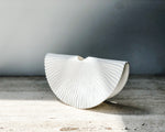 PLEATED SWING VASE | WHITE