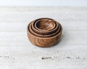 Load image into Gallery viewer, TEAK DISH | SET OF FOUR