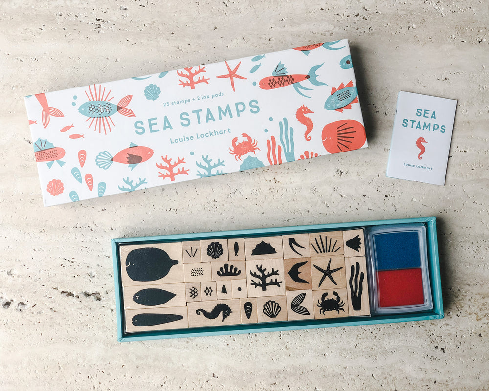 SEA STAMP SET by LOUISE LOCKHART