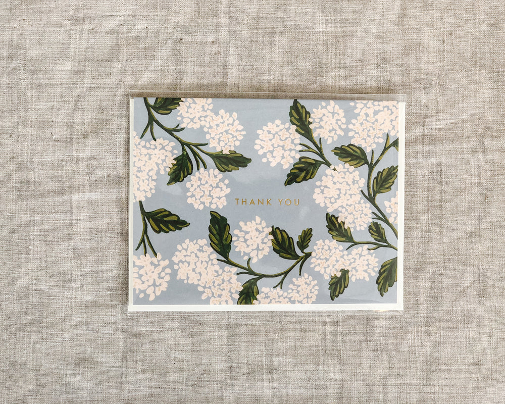 RIFLE PAPER CO. CARD | HYDRANGEA THANK YOU