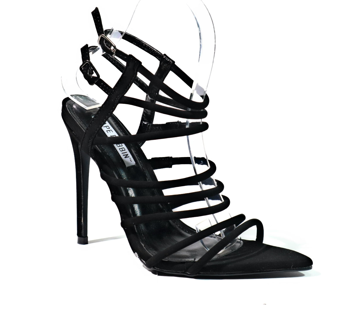 a507324ea52 Cape Robbin  Endless  Black Strappy Stiletto Heel – CiCiNista