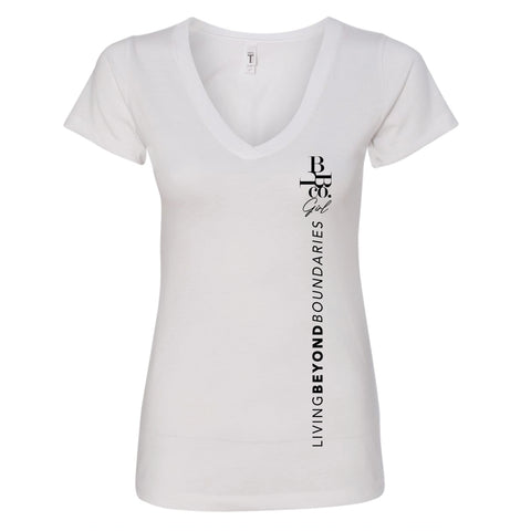 """LBBco"" Women's V-Neck Tee - LBBco - Living Beyond Boundaries Clothing Company"