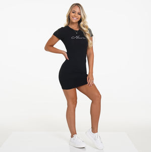 Black Navi Tee Dress