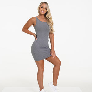 Grey Keep It Casual Tank Dress