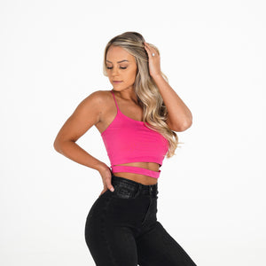 Hot Pink Night Out Crop Top
