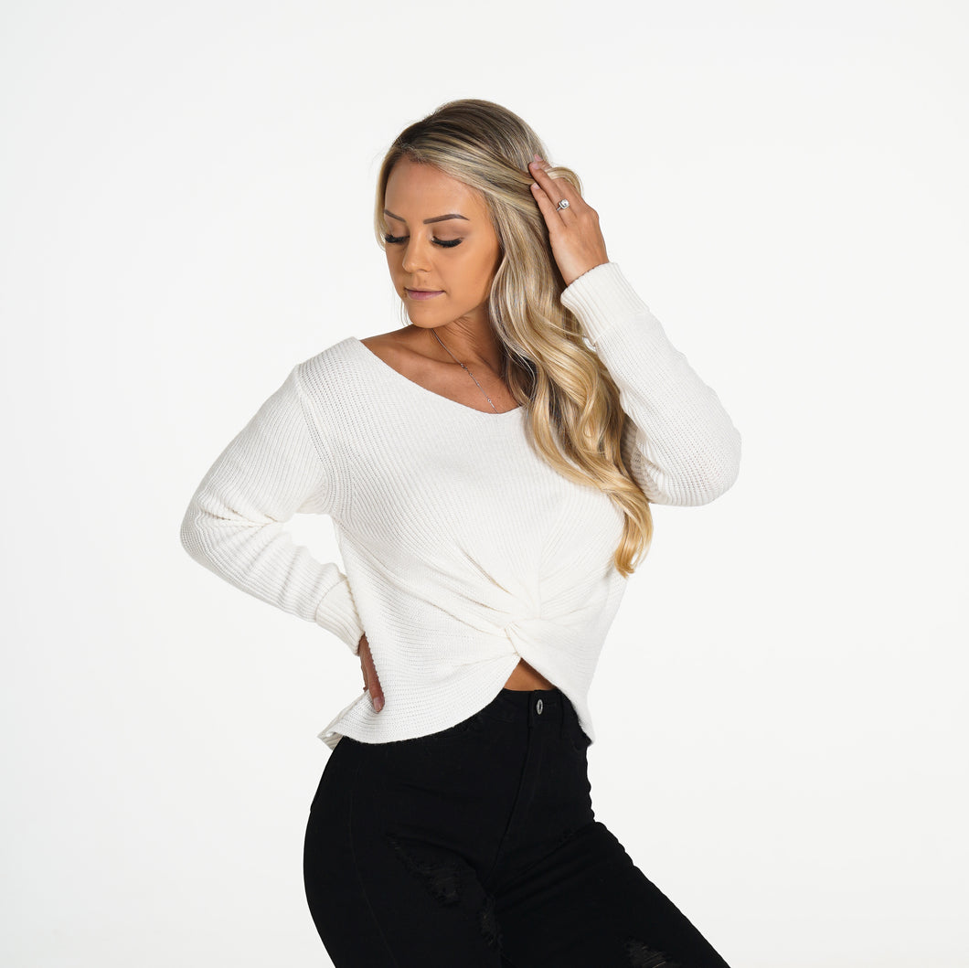 Ivory Cuddle Up Knit Sweater