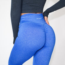 Load image into Gallery viewer, Electric Blue Scrunch Leggings
